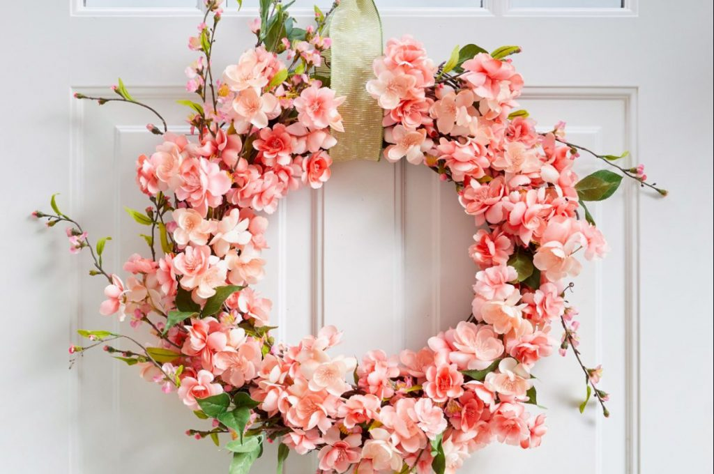 How to Make the Perfect Faux Cherry Blossom Wreath for Spring