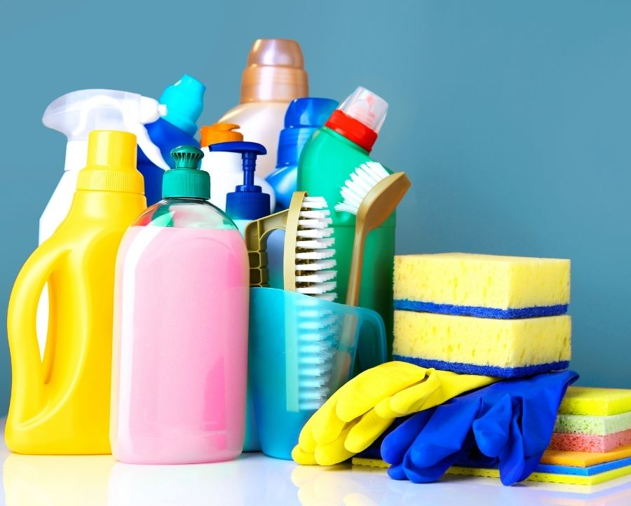 cleaning supplies for first apartment